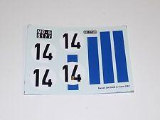 1/24 decals sheet Tecnomodel Ferrari 250 SWB Le Mans 1961 Car #14       #123