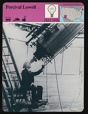 PERCIVAL LOWELL Astronomer Photo Viewing Venus Telescope STORY OF AMERICA CARD