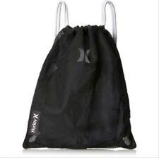 Hurley Honor Roll Mesh Drawstring Backpack Cinch Sack Black HZQ014023NS See Thru