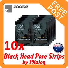 10x PILATEN BLACKHEAD / BLACK HEAD REMOVER PORE CLEANSING STRIP MASK FACE NOSE
