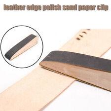 Treatment Screw Up Hand Edge Polish Block Leather Tool Sand Paper Clip