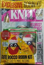 Knit Today UK Issue 117 Cute Rocco Robin Kit 23 Easy Patterns FREE SHIPPING sb