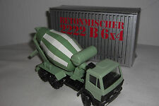 (NZG) Conrad Mercedes Benz bétonnière 2222 B 6x4 1:50 neuf dans sa boîte camion camion Olive Vert