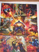 1996 FLEER AMALGAM MARVEL VS DC CANVAS INSERT 9 CARD SET WOLVERINE DARKCLAW!
