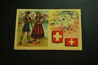 Vintage Cigarettes Card. Switzerland . REGIONS OF THE WORLD COLLECTION