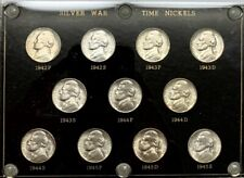 1942 - 1945 PDS Silver Wartime Nickel Complete Set UNC Coin Capital Plastic