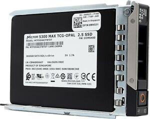 """Dell/Micron 5300 MAX 3.84TB SATA 6Gb/s 2.5"""" SSD In Gen.14 Tray (0W6G21)"""