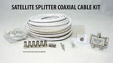 15m SATELLITARE COASSIALE TV Extension Kit Cavo Antenna Cavo Coassiale Tv Piombo Filo