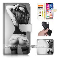 ( For iPhone XS / iPhone X ) Wallet Case Cover AJ40141 Sex Girl