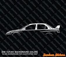 2X Car silhouette stickers - for Mitsubishi Lancer Evo 7, 8, 9 evolution GSR
