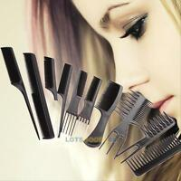 10Pcs Hair Comb Set - Men Lady Styling Detangling Hairdressing Salon Brush Combs