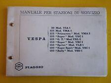 VESPA 50 -125-150-180 MANUALE PER STAZIONI DI SERVIZIO