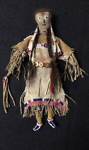 Antique Native American Sinew Sewn Beaded Doll - Cheyenne - 1870-1880