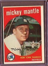 1959 Topps 10 Mickey Mantle VG-EX #D208429