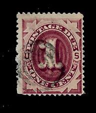 US Sc# J 15 - 1 c Postage Due  Used - Light Cancel - Crisp Color