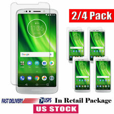 For Motorola Moto G6 / G6 Plus Clear Tempered Glass Screen Protector Guard Cover