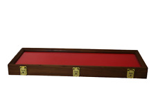 Walnut Wood Display Case 9 X 25 X 2 For Arrowheads Knives Collectibles Amp More