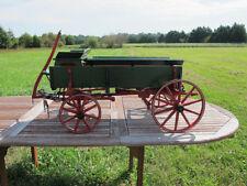 Amazing Salesman's Sample Child's Diminutive Farm Wagon Hand Crafted w/Seat yqz