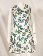 60'S FRENCH VINTAGE FLOWER PRINT SUMMER DRESS UK 10