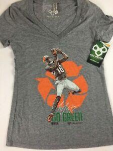 AJ Go Green Shirt Womens SZ M/L V-Neck NFL Football Cincinnati Bengals Cincy NEW