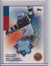 2014 TOPPS OLYMPIC AMY PURDY BRONZE * VERIZON LOGO * RELIC CARD /75 SNOWBOARDING