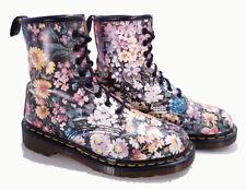 💥 Dr. Martens Doc England Rare Vintage Floral Pattern 1460 Boots UK4 US6 💥