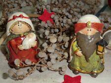 Goldbach Entzückende kleine Hl. Familie 2 Figuren Deko Polyresin Weihnacht