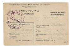 1947 France Prisoner of War Official Preprinted POW Larzac to Annaberg Germany