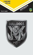 620130 CANTERBURY BULLDOGS CHROME DECAL NRL CAR STICKERS ITAG
