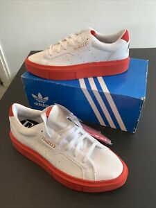 Adidas X Fiourucci Women's Sleek Super Red Trainers Sneakers Size UK 7