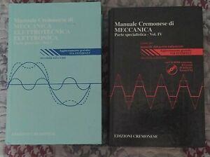 Manuale di Elettronica Elettronica e Meccanica Edizioni Cremonese 2 Volumi Usato