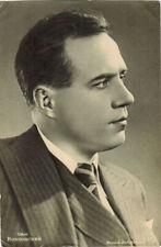 Vintage Soviet Russian postcard photo of opera singer Ivan Kozlovsky