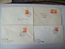4 X Hong Kong covers with branch cancels  on 5c ( 1st day branch cancel ?)