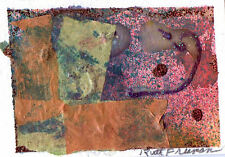 """ACEO """"ABSTRACT DESIGN"""" BY Ruth Freeman  COLLAGE  2 1/2"""" X 3 1/2"""""""