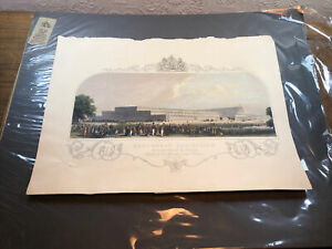19th century engraving of THE GREAT EXHIBITION 1851 The London Printing & Publis