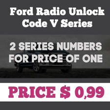 Ford Radio V Serial Pin Code Unlock Service **FAST SERVICE** 2 for price of one