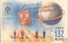 POSTAL 1940 POST GUERRA CIVIL AGUILA DE SAN JUAN FRANCO ESTADISTICA      CC00058