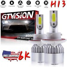 1300W LED Headlight Kit H13 9008 6K White Hi/Lo Bulbs for Ford Escape 2008-2012