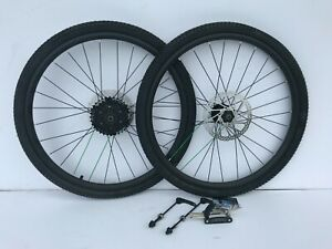 24 INCH BIKE WHEELS FRONT AND REAR WITH TIRES AND TUBES AND FREE TOOL KIT