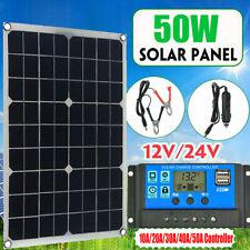 50W Solarpanel Kit 12/5V Batterie Ladung 10/20/30/40/50A Controller Caravan Boot