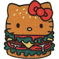 Hello Kitty Hamburger Embroidered Iron On Patch