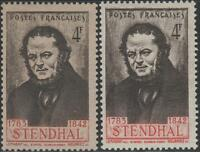 "FRANCE STAMP TIMBRE N° 550 "" STENDHAL BELLE VARIETE COULEUR "" NEUFS xx LUXE"
