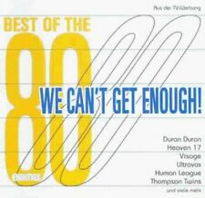 We can't get enough!-Best of the 80s (1998, Universal) Duran Duran, Tho.. [2 CD]