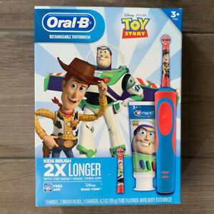 Oral B Kids Toy Story Rechargeable Electric Toothbrush Crest Toothpaste Set Buzz