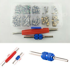 Car 100x A/C R12 R134a Mixed Air Conditioning Valve Core + 2x Remover Tool Kit