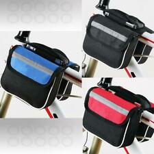 Bicycle Front Frame Bag Cycling Bike Tube Pouch Holder Saddle Panniers Phone Key