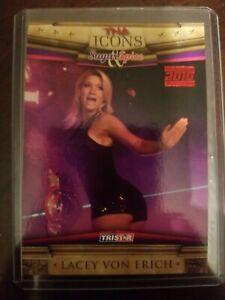 2010 TriStar TNA Icons Red #47  #1/5 = 1/1 LACEY VON ERICH/SUGAR & SPICE RARE SP