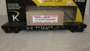 Lionel compatible K-Line Rutland Marble Flat Car K691-4161 Unknown Soldier
