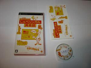 Talkman Shiki Shabe Lingual Eikaiwa Playstation PSP Japan import US Seller