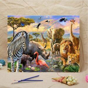 DIY Oil Paint Canvas Art Decor Easy Paint By Number Kit Oil Paint Home Decors